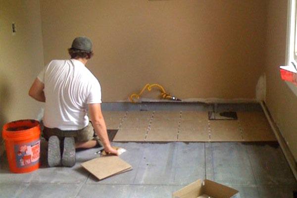 Tiling job
